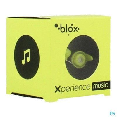 BLOX XPERIENCE MUSIC OORDOPPEN FLUO GEEL 1 PAAR
