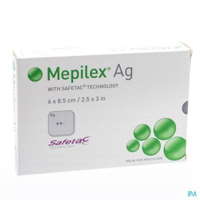 MEPILEX AG VERBAND STERIEL 6,0X 8,5CM 5 287021