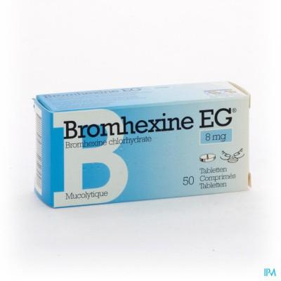 BROMHEXINE EG COMP 50 X 8 MG
