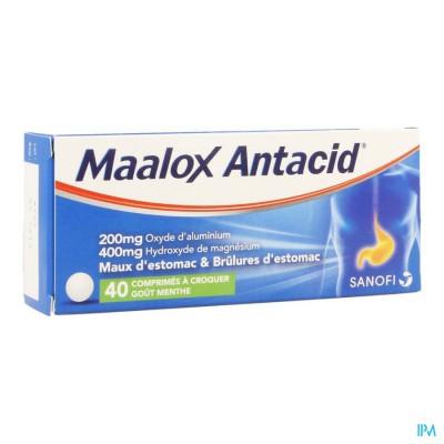 Maalox Antacid 200/400 Comp 40