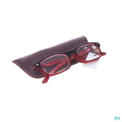 Pharmaglasses Leesbril Diop.+4.00 Red