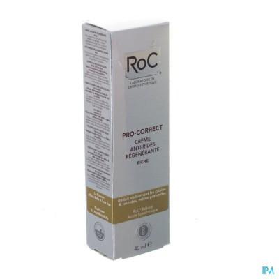 ROC PRO-CORRECT CREME A/RIMPEL RIJK VERJONG. 40ML
