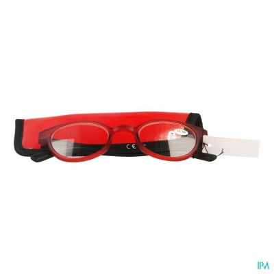 Pharmaglasses Leesbril Round +1.50 Red/black