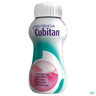 Cubitan Aardbei 4x200ml
