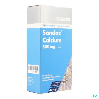 SANDOZ CALCIUM BRUISTABL-COMP EFF 40 SINAAS