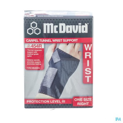 MCDAVID CARPAL TUNNEL WRIST SUPP.RIGHT ONE SIZE454