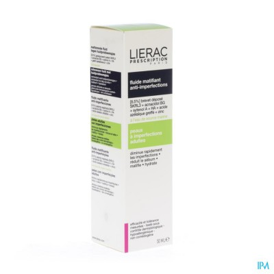 LIERAC PRESCRIPTION FLUIDE MATIF. A/IMPERF.FL 40ML