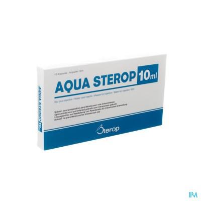 Aqua Sterop Pour Inj Solvens Amp 10 X 10ml