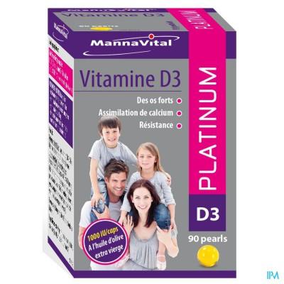 Mannavital Vitamine D3 Platinum Caps 90