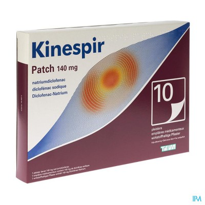 KINESPIR PATCH 140 MG PLEISTERS 10