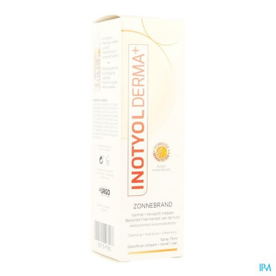 INOTYOL DERMA+ ZONNEBRAND SPRAY 75ML