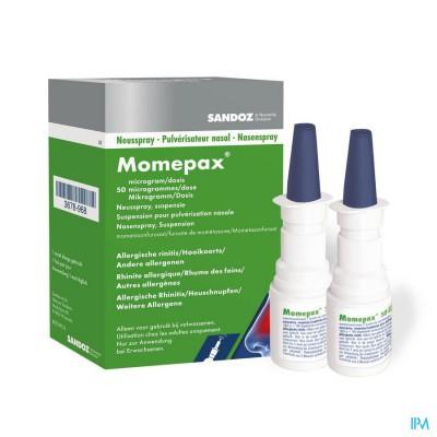 MOMEPAX 50MCG NEUSSPRAY 2X140 DOSISSEN