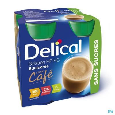 Delical Melkdrank Hp-hc Z/suiker Koffie 4x200ml