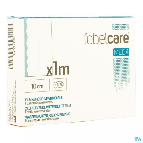 Febelcare Med4 Film Zelfklevend Wtp 10cm 1m 1