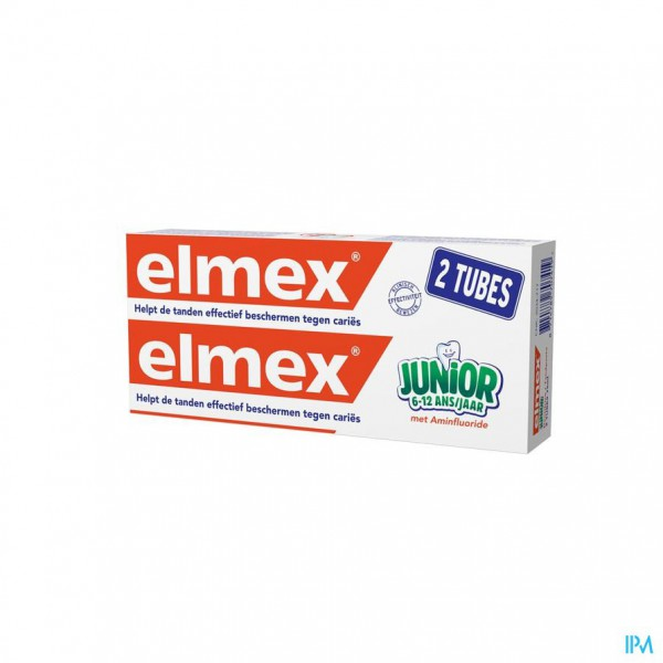 ELMEX® JUNIOR TANDPASTA TUBE 2x75ML