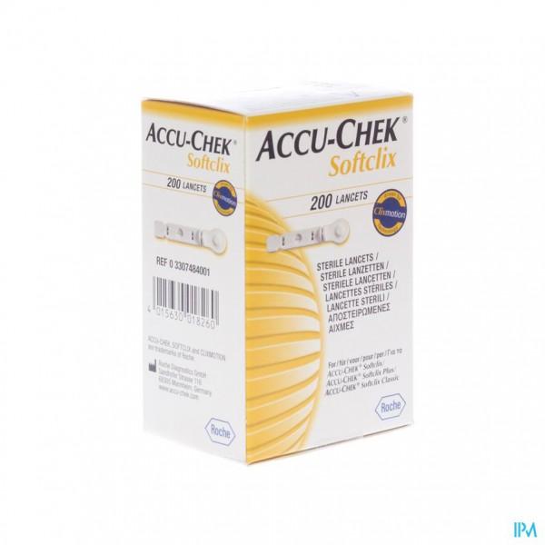 ACCU CHEK SOFTCLIX LANCET 200 3307484001