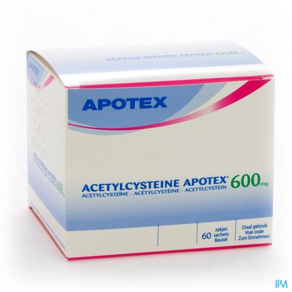 ACETYLCYSTEINE APOTEX SACH 60 X 600 MG